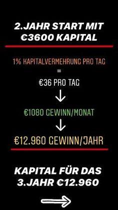 In den nächsten 3 Posts zeige ich dir was mit nur 1000€ Startkapital in 3 Jahren möglich ist. 🤙 🤑 3 Years