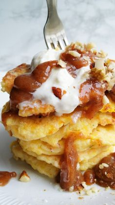 Lasagna, Pancakes, Breakfast, Ethnic Recipes, Picsart, Food, Morning Coffee, Essen, Pancake