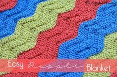 Easy Crochet Ripple Blanket ~ The Stitchin' Mommy
