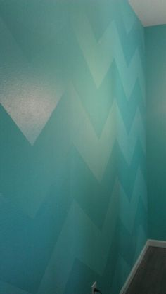 Chevron wall in my craft room.. just used a gloss