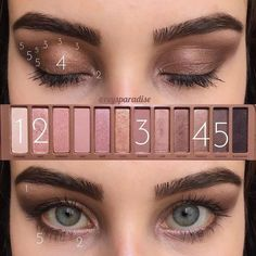 Top Tips, Tricks, And Techniques For The Perfect hooded eye makeup Urban Decay Makeup, Maquillage Urban Decay, Urban Decay Eyeshadow, Eye Makeup Steps, Smokey Eye Makeup, Skin Makeup, Paleta Urban Decay, Urban Decay Palette, Urban Decay 3