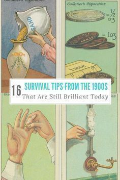 16 Survival Tips From The 1900s That Are Still Brilliant Today -16 survival tips from 1900's cigarette cards! #SurvivalSkillsPrimitive #familysurvivaltips