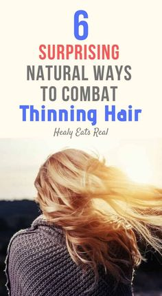 6 Surprising Natural Ways to Combat Thinning Hair- Thinning hair can be so frustrating. If you're used to shiny, thick, lustrous locks, it can be disconcerting when your hair starts to thin and shed. Below are some tried and true natural solutions to deal Natural Beauty Tips, Natural Hair Care, Natural Hair Styles, Natural Health Remedies, Herbal Remedies, Hair Remedies, Food Doctor, Healthy Mind And Body, Hair Starting
