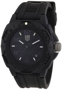 Luminox Rubber Quartz Black Dial Men's Watch - 0201.BO
