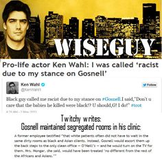 #prolife #kermitgosnell #wiseguy #kenwahl