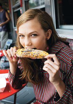 models eating