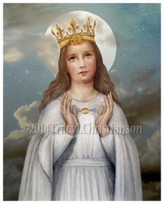 Our Lady of Knock, Virgin Mary, Queen of Ireland, Catholic Art Print Blessed Mother Mary, Blessed Virgin Mary, Catholic Art, Catholic Saints, Religious Images, Religious Art, La Salette, Vintage Holy Cards, John The Evangelist