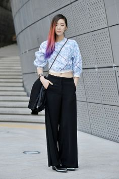 Streetstyle: Irene Kim at Fall 2014 Seoul Fashion Week shot by Choi Seung Jum
