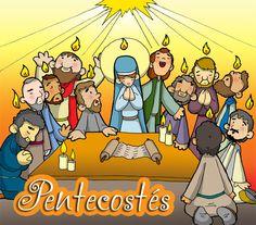 Dibujos para catequesis: PENTECOSTÉS