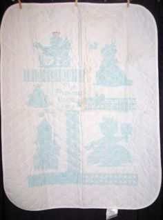 "The Princess Sleeps Here Cross Stitch Baby Blanket Size 33"" x 43"" Castle Frog #Dimensions"