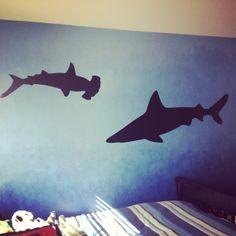 Shark Room aka Shark Tank (ombré walls)