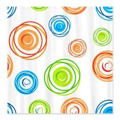 I really like this shower curtain for Rachel's bathroom. Won't pay $58 for it though!