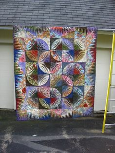 Japanese Fan ~ Quiltworx.com, made by Gail Menard