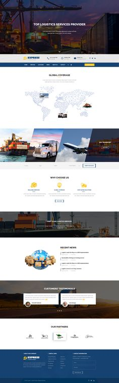 EXPRESS #Free #Logistics #PSDTemplate is designed for #logistics, #transportation #companies and #freight #business