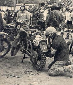 Photo of #247 Josef Cisar of the victorious Czech Trophy Team ISDT 1973