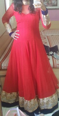 Floor length Anarkali.... U can have this in your Wardrobe in just 4500 INR