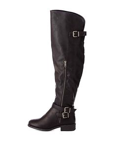 Buckled Over-the-Knee Riding Boots #CharlotteRusse #boots