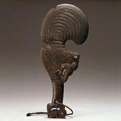 Patu Wahaika War Club (Two-Handed) Merida, Garden Sculpture, Lion Sculpture, Objects, Ocean, Statue, Outdoor Decor, Club, Home Decor