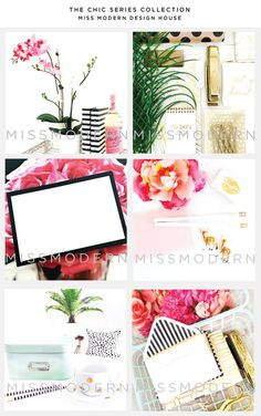 Styled Stock Photography Marketing Kits from Dear Miss Modern.