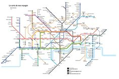 Inspired by the iconic London Underground Tube Map, this travel map features some of the best places on Earth I've been to.