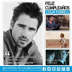 Hoy el Irlandés #ColinFarrell, cumple 39 años ¿Cuál es su película favorita?