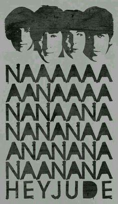 The Beatles Vintage nanana hey Jude Poster The Beatles Tumblr, Beatles Love, Beatles Party, Beatles Birthday, Beatles Quotes, Beatles Poster, Beatles Lyrics, Ringo Starr, Paul Mccartney