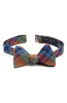 b03455460f5016 Free shipping and returns on Ted Baker London Plaid Silk Bow Tie at  Nordstrom.com