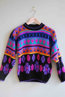 comfortable 90s sweater inherited from your mother that will so come back into fashion