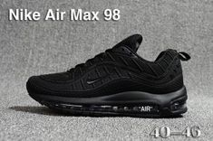 brand new a3131 61489 Nike Air Max 98 QS KPU Triple Black 640744 061 Mens Running Shoes