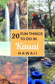 See 20 experiences and fun things to do in Kauai Hawaii USA with kids. From mountain tubing zip lining snorkeling hiking and many more activities. Hawaii Vacation, Kauai Hawaii, Hawaii Travel, Oahu, Vacation Trips, Hawaii Usa, Italy Vacation, Vacation Ideas, Vacations