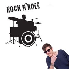 For cool Rock n' Roll decoration, use this drums sticker, and create a stylish look for your interior space. Is your child or teenager a rockstar wanna-be? Does your kids love drums but you want to avoid the noise? Use this drum vinyl wall sticker Music Wall Decor, Music Wall Art, Cool Wall Art, Kids Wall Decor, Play Rooms, Kids Rooms, Vinyl Wall Stickers, Wall Decals, School Of Rock