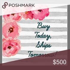 Buy Today, Ships Tomorrow! If you make a purchase today, it will ship next business day! Bags