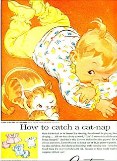 Vintage Carter's baby clothes ad, 1959.