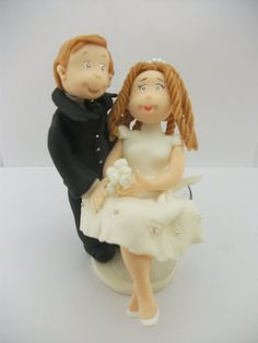 Handmade Cake topper Bride sitting in the by RUSTIKOcakeDecoratio, €35.00