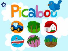 Picaboo, App for toddlers  picabooapp.com  App Store: http://itunes.apple.com/app/picaboo/id550084264?mt=8=1  Google Play: https://play.google.com/store/apps/details?id=com.altinit.picaboo  Amazon Appstore (Kindle Fire): http://www.amazon.com/gp/product/B00904O53U