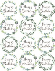 Woodland Flowers Cupcake Toppers are easy cake decorations for birthday parties. Free printables cupcake ideas for girls parties or a woodland party theme.