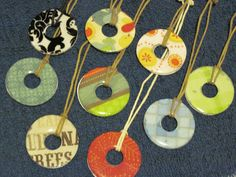 Necklaces made out of washers - my students' presents for Mother's Day.