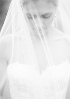 A black-and-white shot of movement -- you swishing your dress or, if the weather cooperates, your veil blowing in the wind -- feels uber-romantic and timeless.