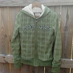 St. Patty's SALE!! Awesome Aeropostle Hoodie This hoodie is excellent condition. Love the fur!! It's green, baby blue, grey, cream and silver stitching. Just super cute! Aeropostale Tops Sweatshirts & Hoodies