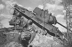 Destroyed Red Army KV-1 tanks