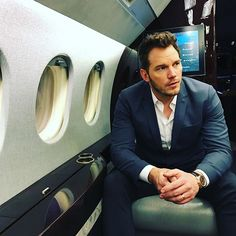 """People ask me, """"What's the greatest part of these press tours?"""" For me, the answer is always """"JETS!!!!"""" So happy and full of gratitude to be on this jet for #passengers press tour. JETS ARE SO FUN!!!! And in that same spirit of gratitude I will finally post an awesome photo of #JenniferLawrence I just took. Stand by!!!!!"""