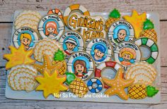 Gilligan's Island cookie set. Just sit right back and hear a tale...