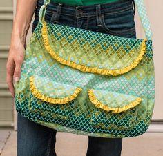 Sara Lawson Frou Frou Bag Kit featuring Tula Pink Fabric -