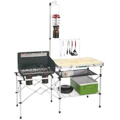 A lightweight, portable, and easy-to-setup outdoor kitchen table.