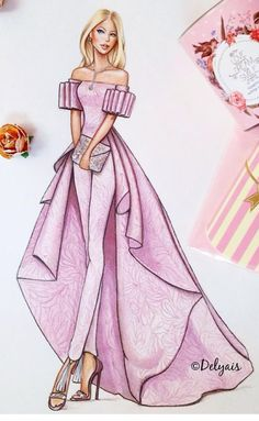 68 Ideas Fashion Drawing Ideas Sketches Dress Illustration - New Sites Fashion Drawing Dresses, Fashion Illustration Dresses, Dress Illustration, Fashion Dresses, Dresses Art, Drawing Fashion, Fashion Illustrations, Jewelry Illustration, Pink Dresses