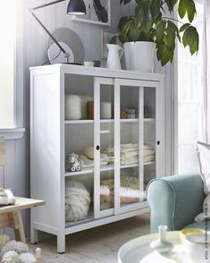 Hemnes Vetrina Mordente Bianco 120x130 Cm Ikea Casa Al Mare