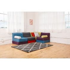 One Section Bundle - Modju Couch Modular Couch, Modular Furniture, Upholstered Furniture, Floor Sitting, Dishwasher Soap, Upholstery Cleaner, Polyurethane Foam, Muted Colors, Color Mixing