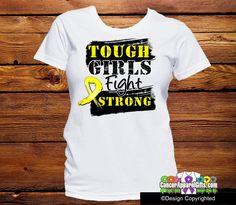 Sarcoma Tough Girls Fight Strong Shirts