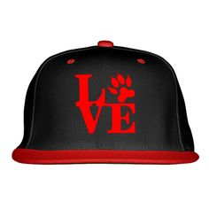 Love Cat Embroidered Snapback Hat