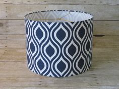 Drum Lamp Shade Lampshade Pendant Navy White by SweetDreamShades Lampshades, Decor, Navy And White, Shades, Lamp, Chandelier Shades, Lamp Shade, Custom Nursery, Small Boxes